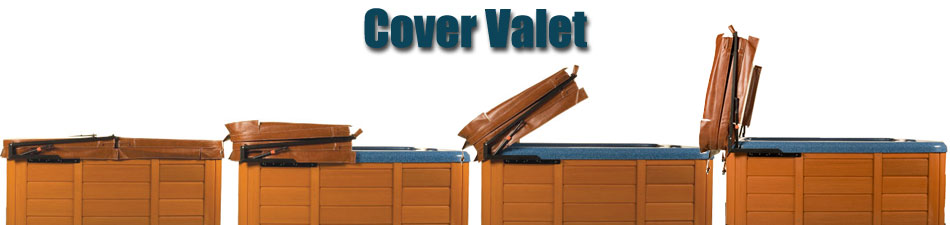 Hot tub covers and spa covers - Hot tub cover lift with and without gas shocks ...